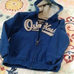 OshKosh 4T Boy Hoodie Blue
